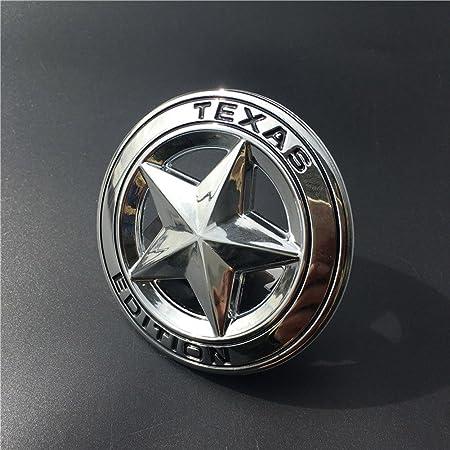 Dsycar Durchmesser 3 3d Metall Texas Edition Stern Auto Emblem Bagde Aufkleber Decals Für Universal Autos Motorrad Auto Styling Dekorative Zubehör Silber Auto