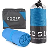 TESLA Microfiber Cooling Active Sports Towel, Traveling, Hiking Wrap Chill Yoga Towels