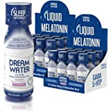 Dream Water Natural Sleep Aid, GABA, MELATONIN, 5-HTP, 2.5oz Shot, Snoozeberry, 24 Count Economy Value Pack