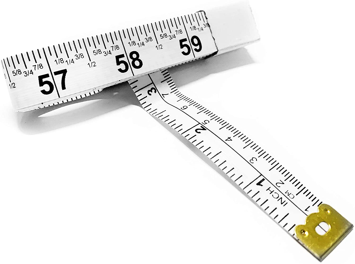 Amazon Com Perfect Measuring Tape Fraction Tape Measure All Purpose 60 Inch Tape Measure Double Sided Fractional Inches And Millimeter Centimeter Tape Measure Tr 16 Frac 60 Inch White