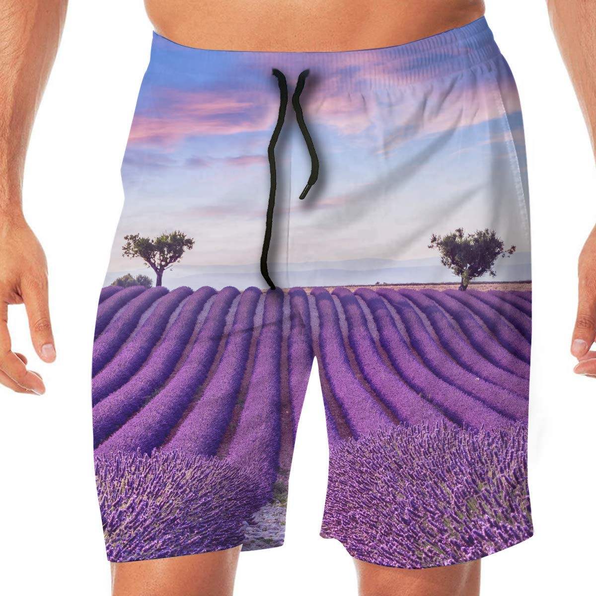 Summer Sunset Landscape Mens / Classic Beach Shorts Surf Board Quick-Drying Swim Trunks