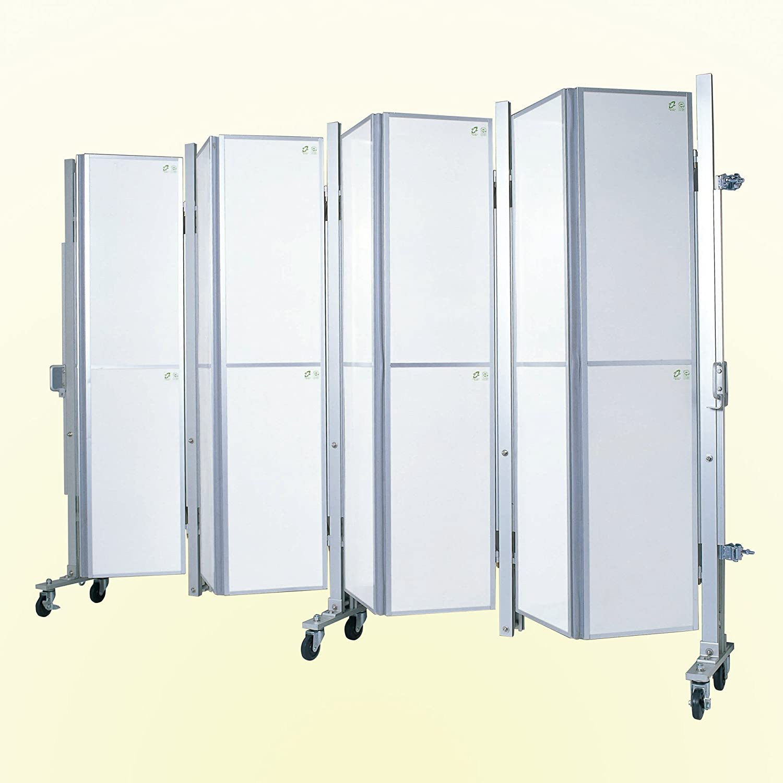 アルミキャスターパネルゲート 高さ2.1m 間口4.5m AXGシリーズ B07CZB9FM4 高さ2.1m 間口4.5m  高さ2.1m 間口4.5m