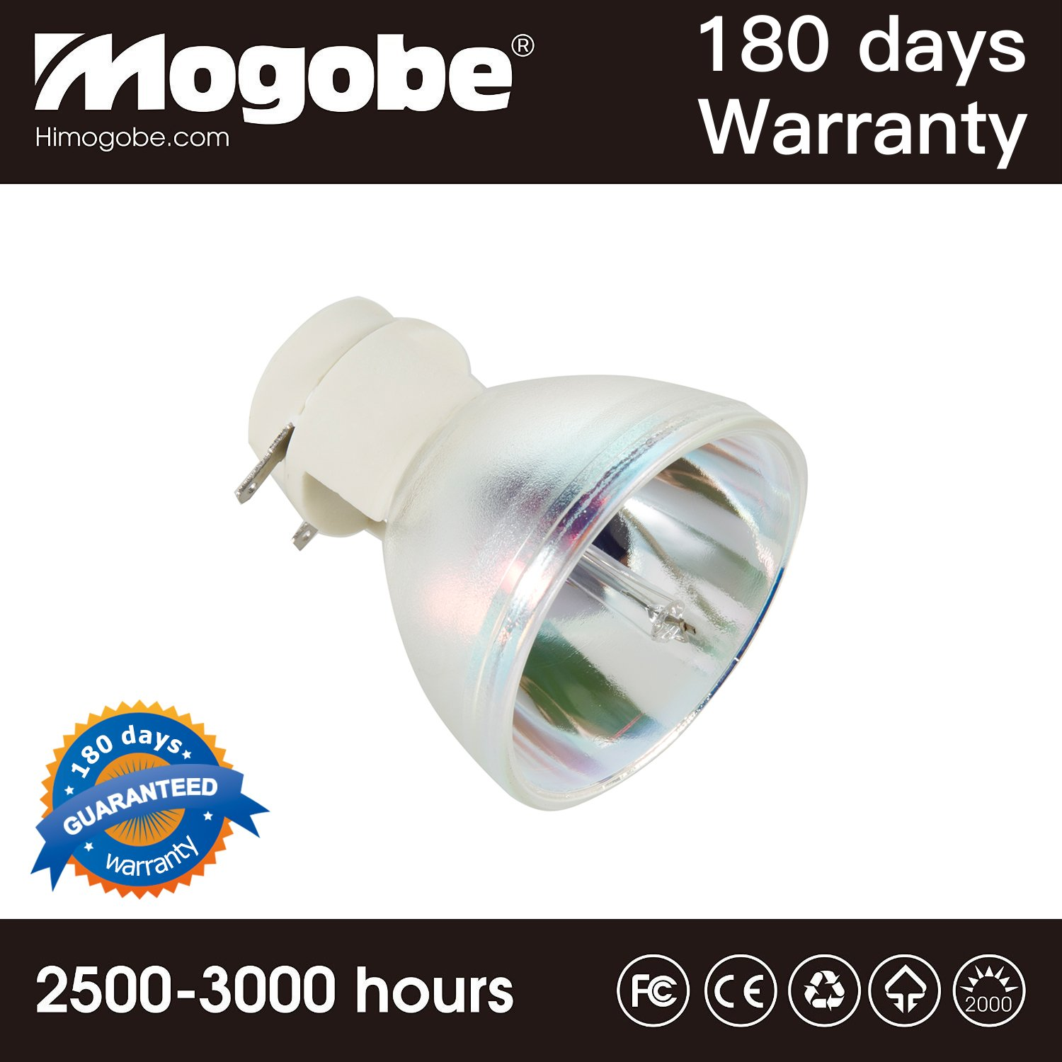 For 5J.JEE05.001 Replacement Bare Bulb for Benq Projectors HT2050 HT3050 HT2150ST HT4050 by Mogobe(Silver Bulb inside)