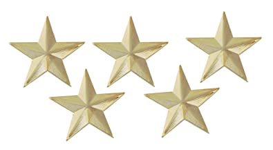 fd8fa1717d1 Amazon.com: Forge 3D 5 Point Gold Star Lapel Pin (10 Pack): Jewelry