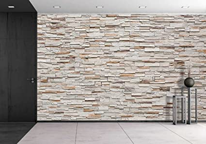 Wall26   Pattern Of Decorative Stone Wall Background   Removable Wall Mural  | Self Adhesive