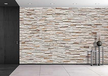 Amazon.com: wall26 Pattern of Decorative Stone Wall Background ...