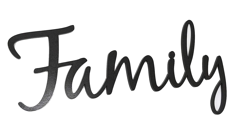 Family Word Art Wood Cutout