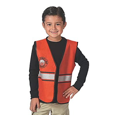 Fun Express - Fire Fighter PNW Vest - Apparel Accessories - Costume Accessories - Bulk Accessories - 1 Piece: Toys & Games
