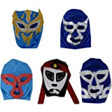 Pack of 5 Kid Mexican Wrestling Masks Lucha Libre Themed Party (Made in Mexico)