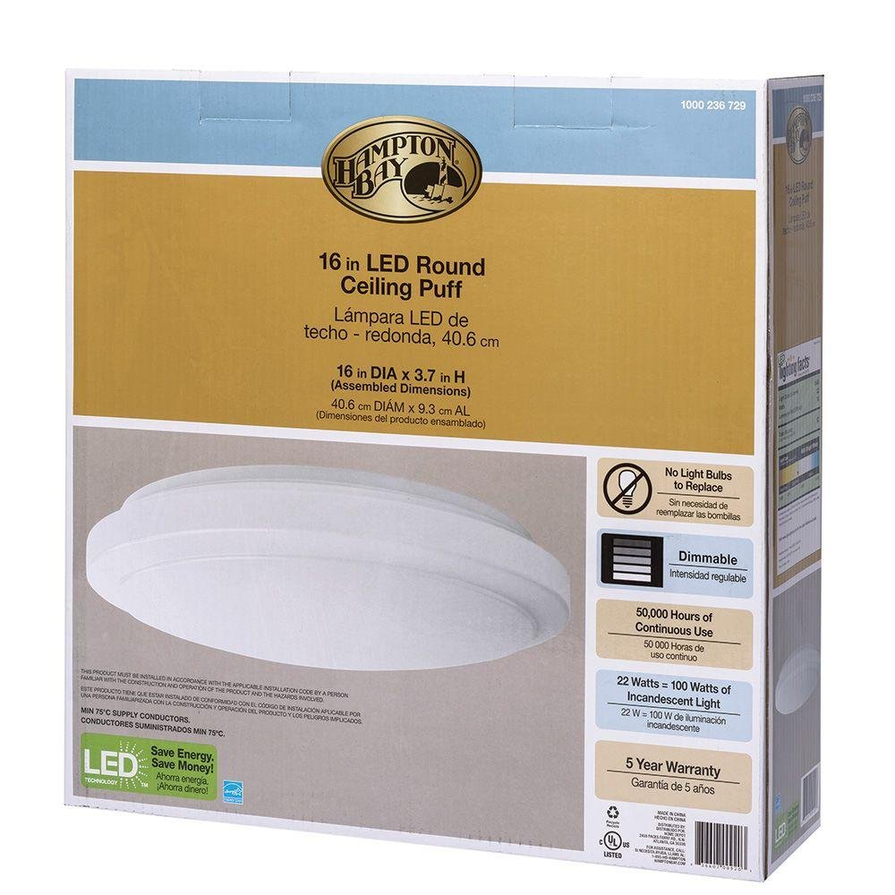 Round Bright/Cool White LED Ceiling Flushmount Light Fixture: Home & Kitchen