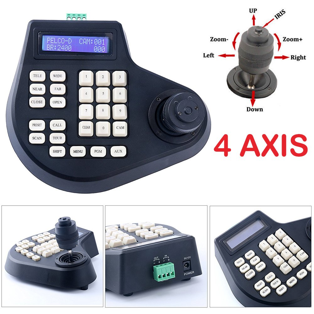 4 Axis Dimension Joystick CCTV Keyboard Controller for Analog PTZ Speed Dome Camera Ebuy.Inc m0001