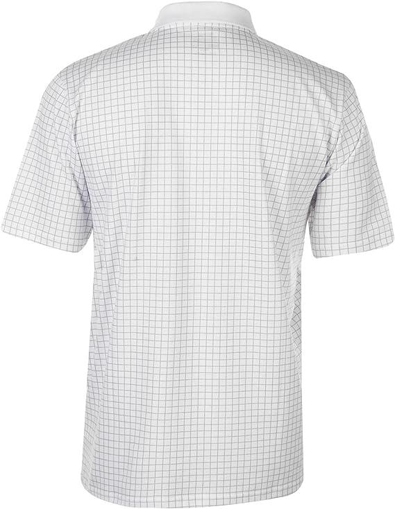 Slazenger Hombre Check Golf Camiseta Polo Manga Corta