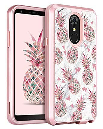 timeless design 9bf40 c4f2b LG Stylo 4 Case LG Stylo 4 Phone Case LG Stylo 4 Plus Case LG Q Stylus Case  GUAGUA Pineapple Marble Glossy Cover Girls Women Hard Bumper Shockproof ...