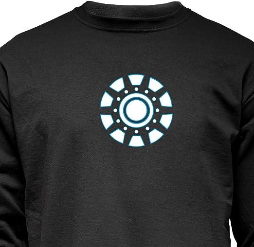 Iron Arc Reactor Damen Langarm T-Shirt Symbol Tony Logo Man Stark Symbol
