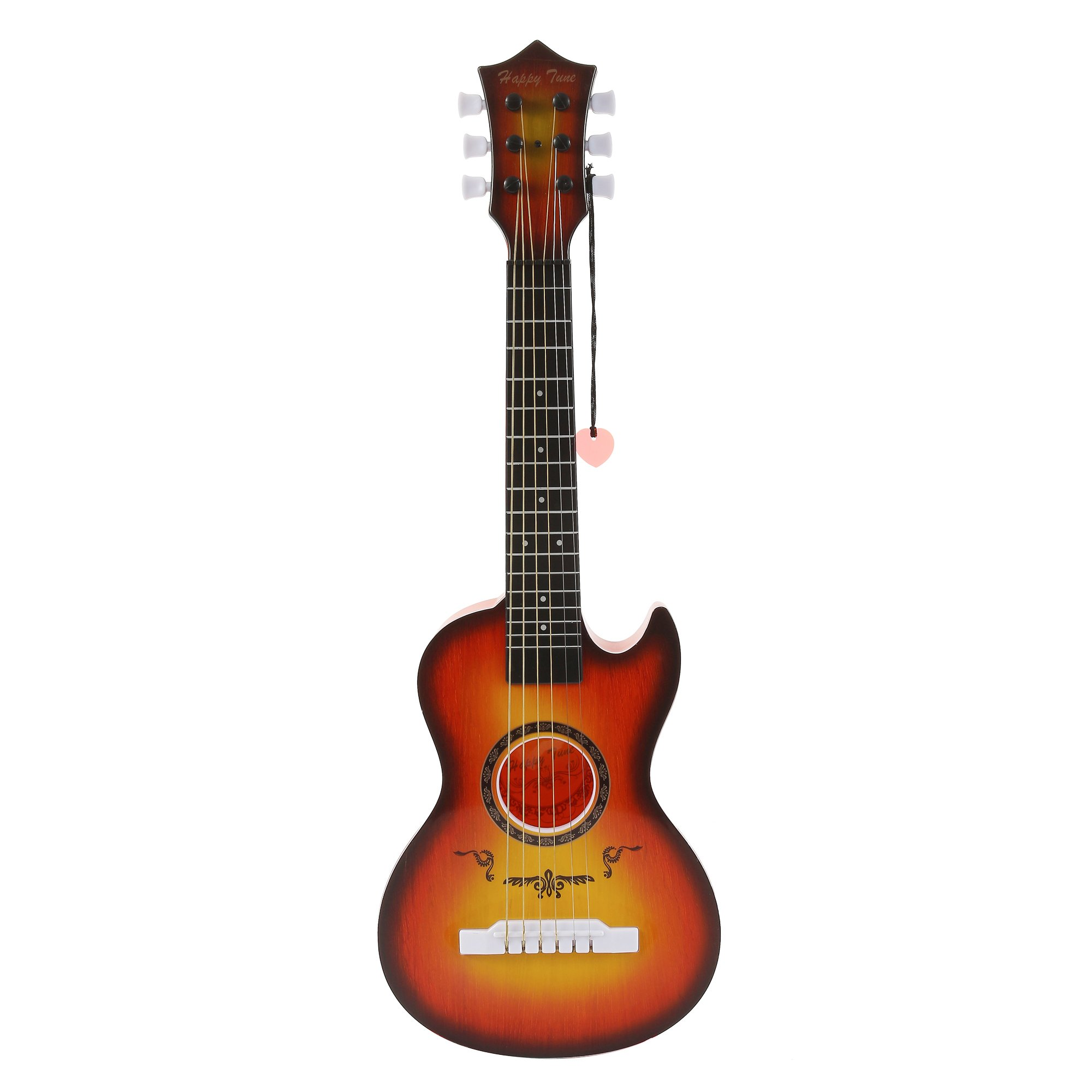 Liberty Imports Happy Tune 6 String Acoustic Guitar Toy for Kids with Vibrant Sounds and Tunable Strings (Cherry Sunburst)