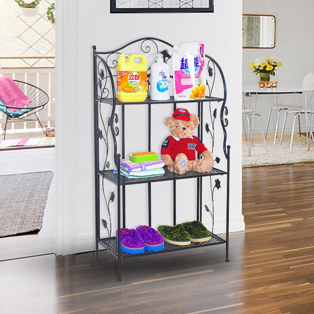60%OFF Wrought iron racks/decorative shoe rack/Bathroom corner rack/special storage rack/Living room bathroom shelf-D