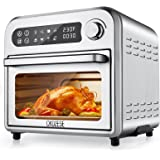 8-In-1 Compact Toaster Oven Air Fryer Combo, 11QT Countertop Convection Oven with Dehydrator/Bake/Broil/Roast, 6 slice Large
