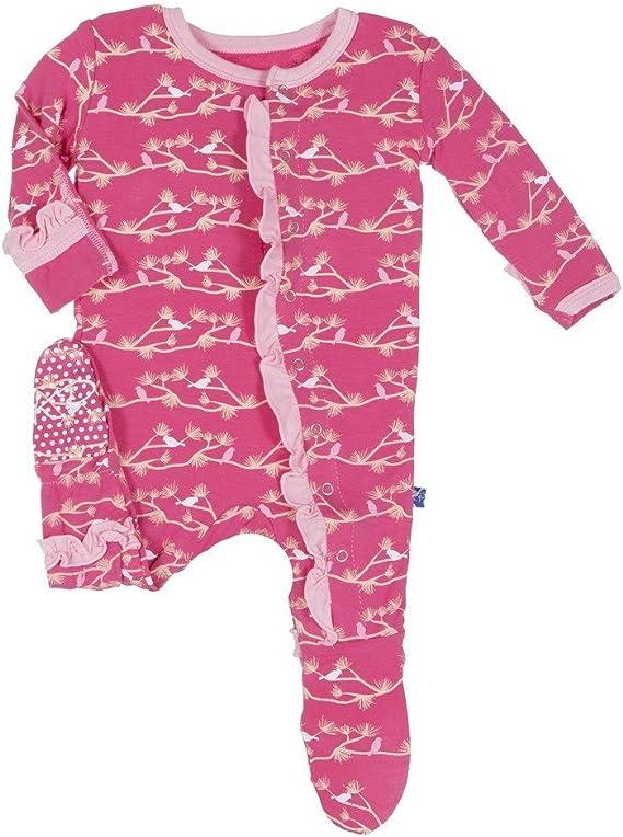 Kickee Pants Baby Girls Print Ruffle Footie Prd-kprf908f16d1-wrpnb