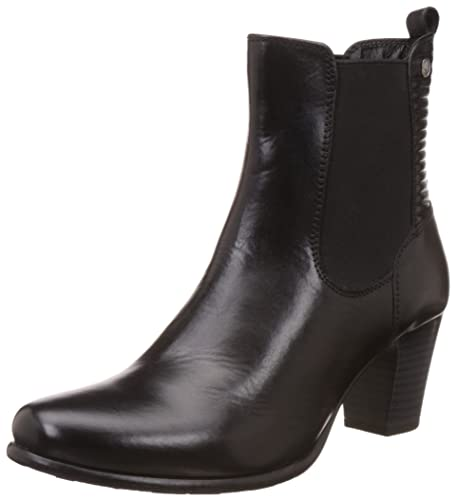 Hush Puppies Women\u0027s Karen Black Leather Boots - 3 UK/India (36EU)(
