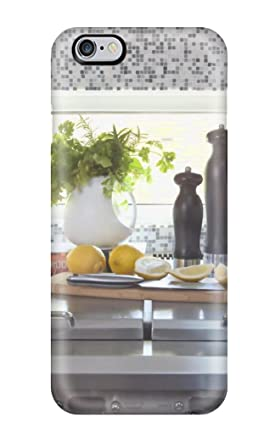 Carcasa de Tpu para iphone 6 Plus - cocina moderna funda protectora fuerte estufa azulejo Backsplash