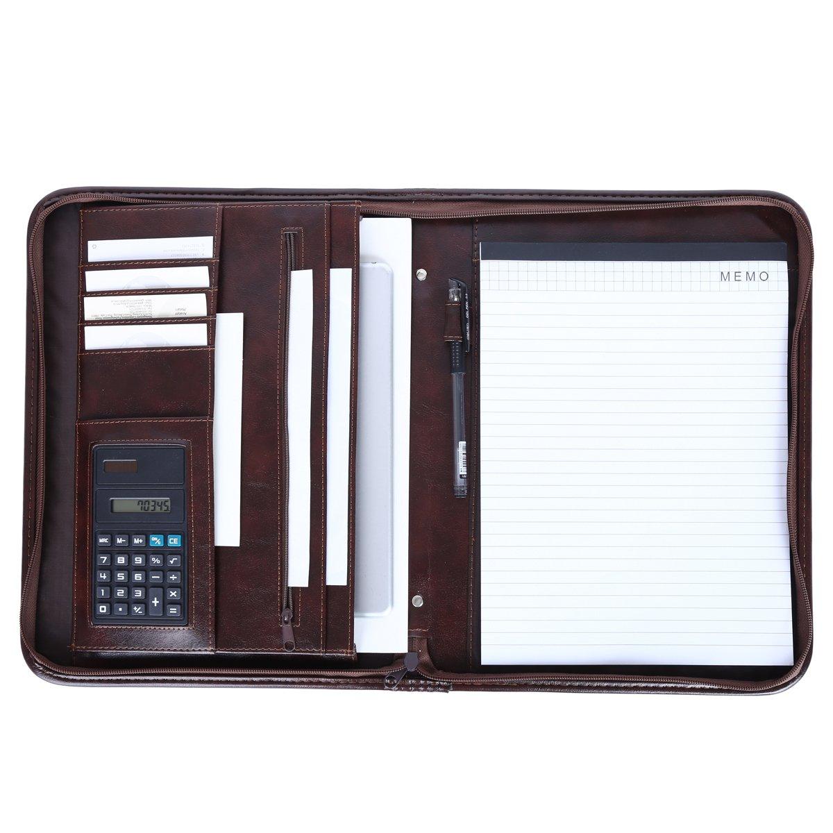 37a6a759bd9d Leathario-Portfolio A4 en cuir PU pour bureau, porte document en cuir,  agenda daffaires en cuir, ...