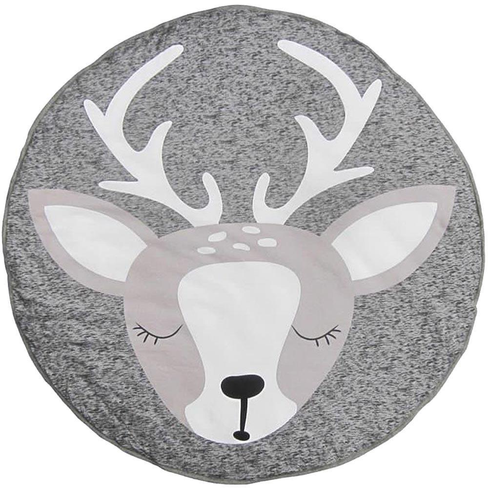 QUICKLYLY Infantil Arrastramiento Estera Alfombra Dibujos Bebé Manta Elk Impresión Jugar Juego Estera Habitación Decoración