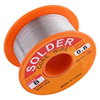 63/37 Rosin Core Solder Wire 2% Flux Solder Iron Welding Wire Reel Diameter 0.6/0.8/1.0mm 50g for Electrical and Electronics DIY Work (0.8mm 50g)