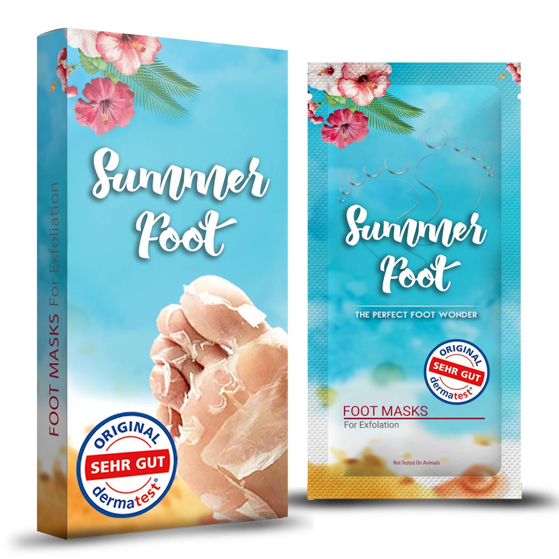 Maschera Piedi Summer Foot Effektive contro i calli per piedi curati e morbidi Maschera Piedi Peeling contro calli per la rimozione di callosità contro callosità e screpolature Cura dei Piedi Pedicure Brain Trust UG