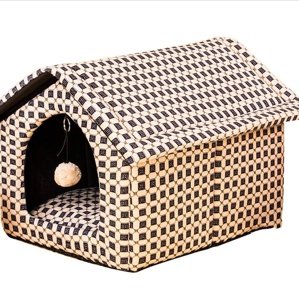 BROWN Pet Nest Pet Sofa Pet Bed Cat Nest Kennel Dog Nest Cat Kennel Small House Detachable NonSlip Warm Haiming (color   Brown)