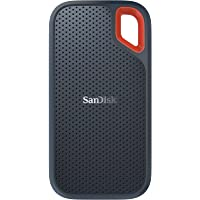 SanDisk 500GB Extreme Portable External SSD - Up to 550MB/s - USB-C, USB 3.1 - Grey