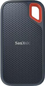 SanDisk 500GB Extreme Taşınabilir Harici SSD, USB-C, USB 3.1, 550MB/sn'e kadar - SDSSDE60-500G-G25