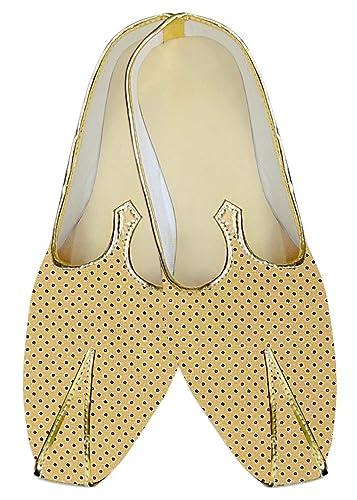 Mens Yellow Wedding Shoes Star Printed MJ015264