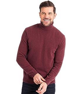 Wool Overs Rollkragenpullover aus Baumwolle-Seide für Herren Grey ... a847776bf4