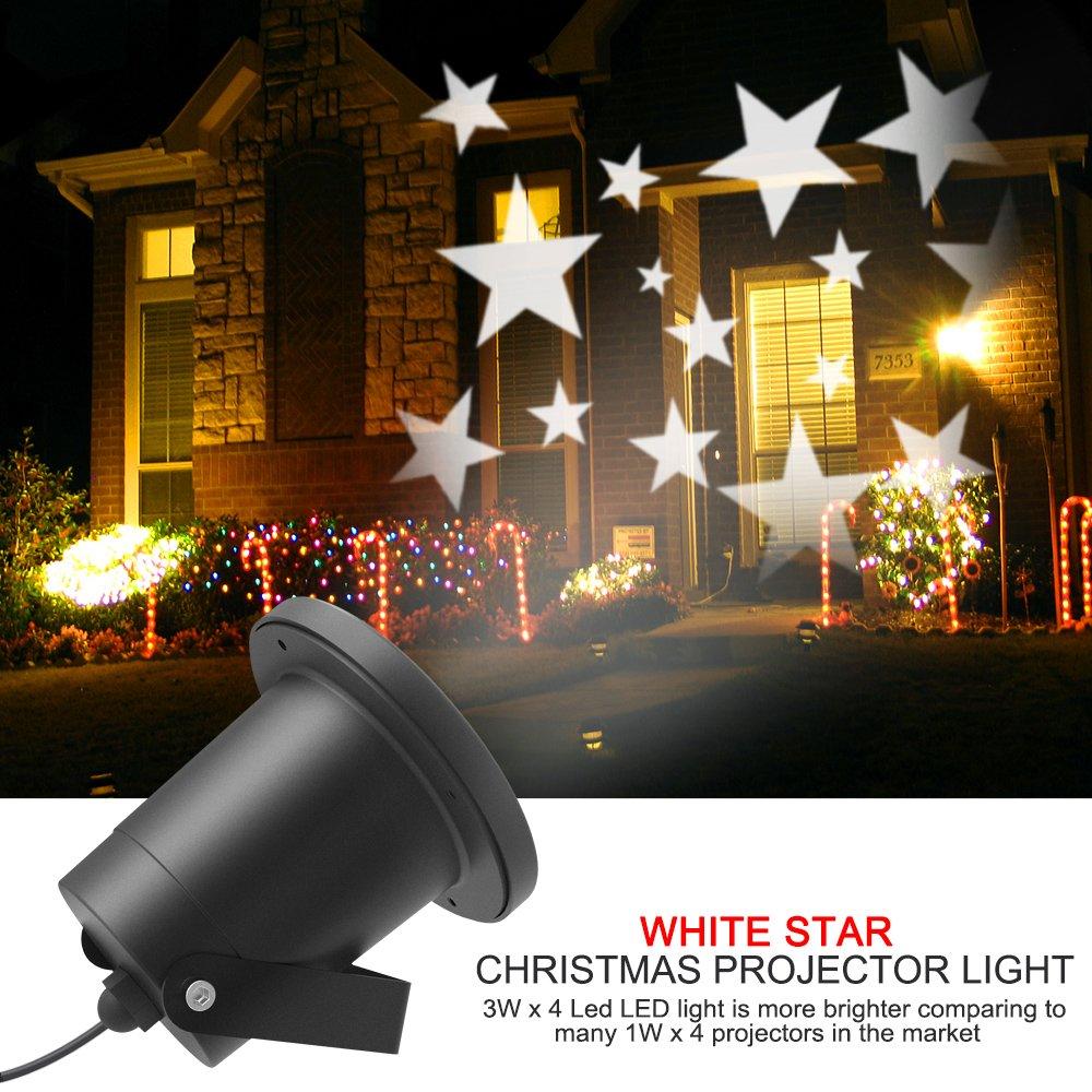Lámpara de proyección de Navidad, Dreamix al aire libre impermeable IP65 HD Efecto Moving LED proyector de paisaje proyectores de luz para la decoración de jardín de la pared de partido de casa … Proyector de Estrellas Halloween Fiesta Niños