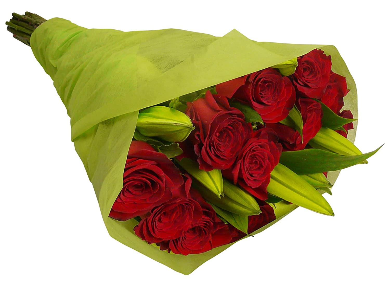 Amazon benchmark bouquets red roses and white oriental lilies amazon benchmark bouquets red roses and white oriental lilies with vase fresh cut format mixed flower arrangements grocery gourmet food izmirmasajfo Images