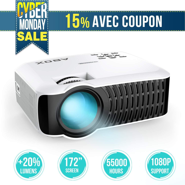 Proyector de vídeo LED portátil, goobang Doo Abox T22 2000 Lumens ...