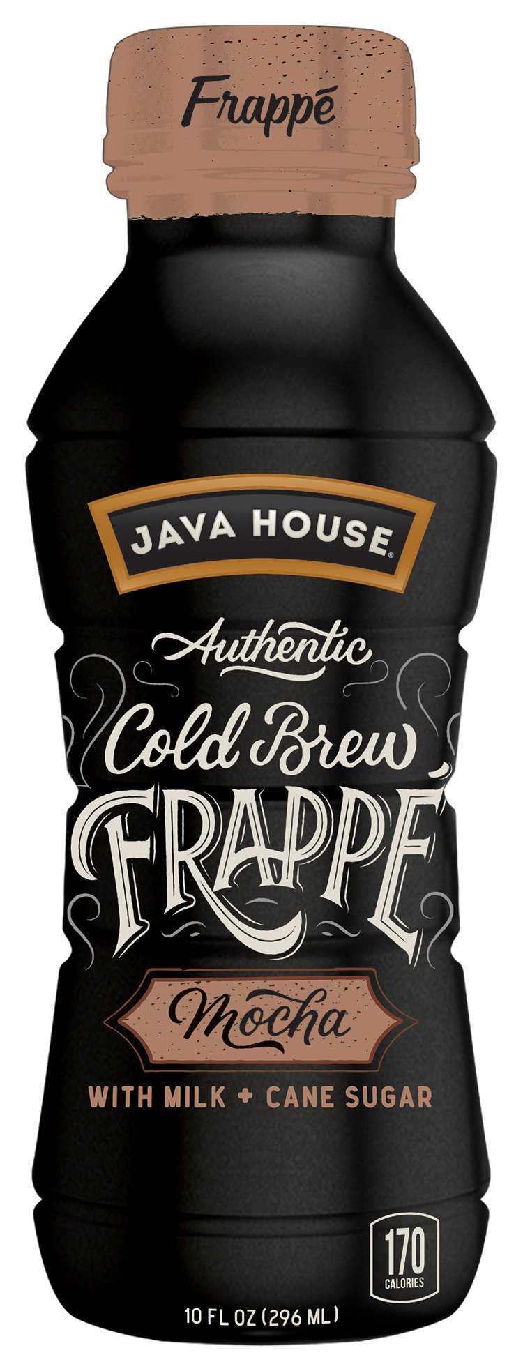 JAVA HOUSE Authentic Cold Brew Coffee, Mocha Frappe, 10 Ounce (Pack of 12) Ready to Drink by Java House