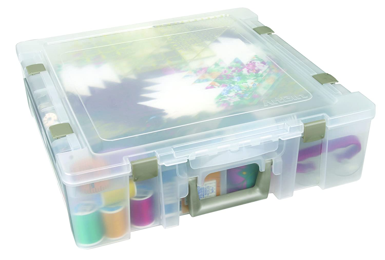 ArtBin 6912AB Essentials Storage Box Translucent 14.125 by 13.625 by 3-Inch