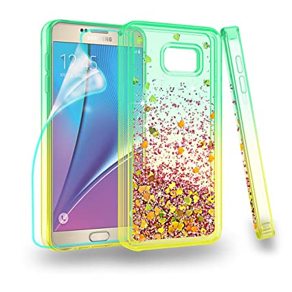 official photos 3d894 9a5be ZingCon Suit for Samsung Galaxy Note 5 Case,Note 5 Phone Case, Glitter Case  with Quicksand Bling Adorable Shine,[HD Screen Protector] Shockproof ...