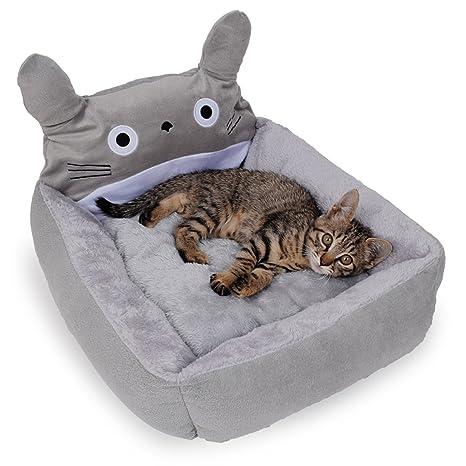 Totoro de cama con cojín para perros y gatos cama lavable (importación de Japón)