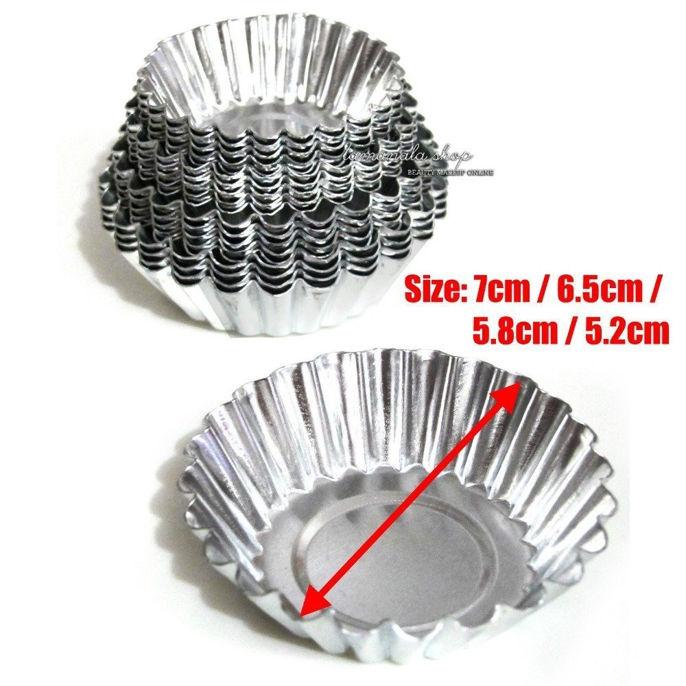 Joinor 4 Sizes 40pcs Egg Tart Aluminum Cupcake Cake Cookie Mold Lined Mould Tin Baking Tool by Joinor (Image #3)
