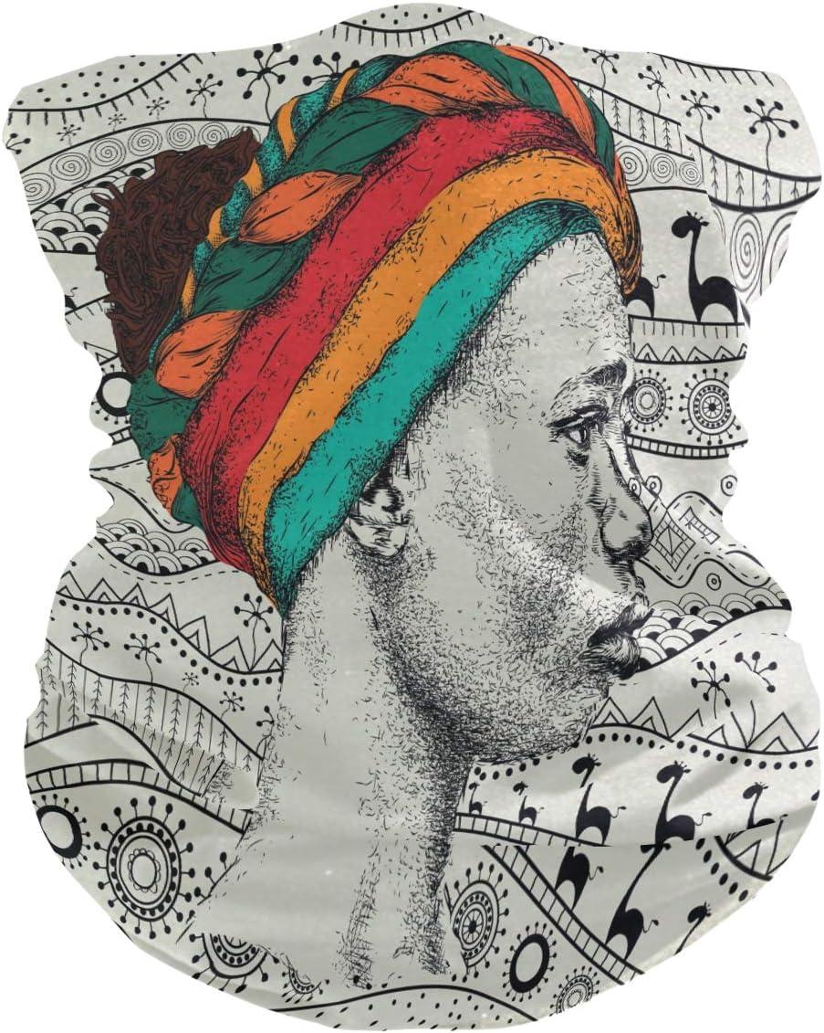 ALARGE - Pañuelo para la cabeza, suave, étnico, africano, transpirable, para la cara, polvo, protección solar, pañuelos, pasamontañas para niños y niñas