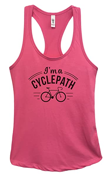 "16c6f9ba2a0d3f Womens Workout Cycling Tank Top Junior Fitness ""I m A Cycle Path 2"" Funny  Threadz"