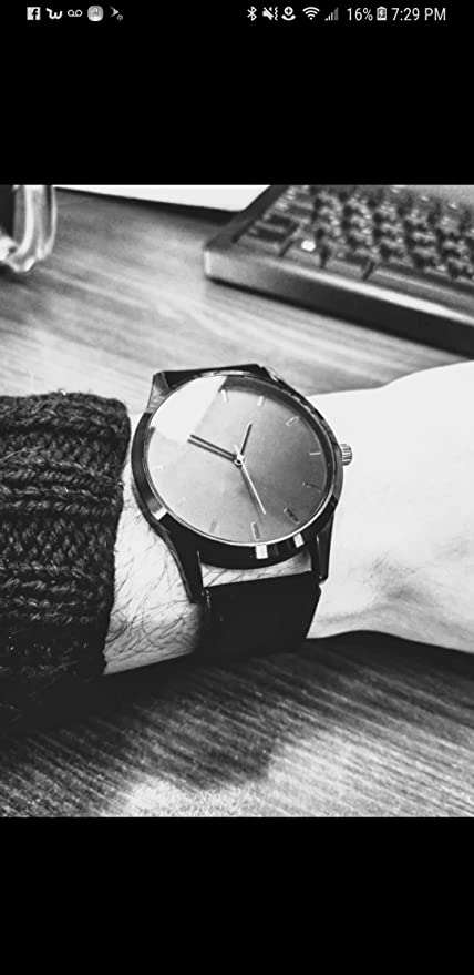 Amazon.com: Reloj 2018 Fashion Large Dial Military Quartz Men Watch Leather Sport watches Clock Wristwatch Relogio Masculino T3: Home Audio & Theater