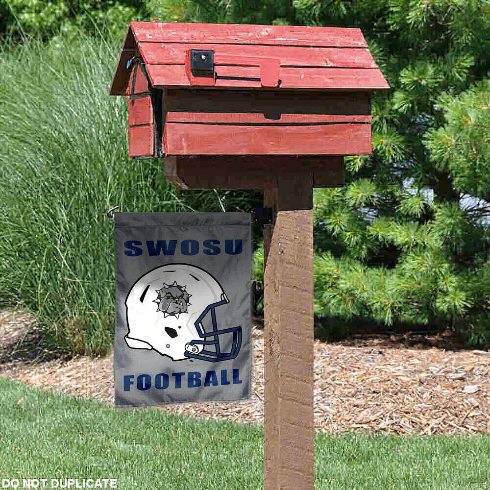 College Flags and Banners Co Southwestern Oklahoma State University Football Helmet Garden Flag