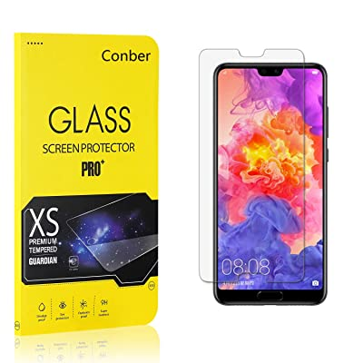 Conber (3 Pack) Screen Protector for Huawei P20 Pro, [Scratch-Resistant][Anti-Shatter][Case Friendly] Premium Tempered Glass Screen Protector for Huawei P20 Pro: Baby