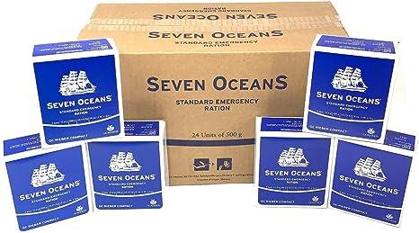 Seven Oceans 2 Meses de superviviencia Food Pack 24 x 500 g Long Life Biscuit rations: Amazon.es: Deportes y aire libre