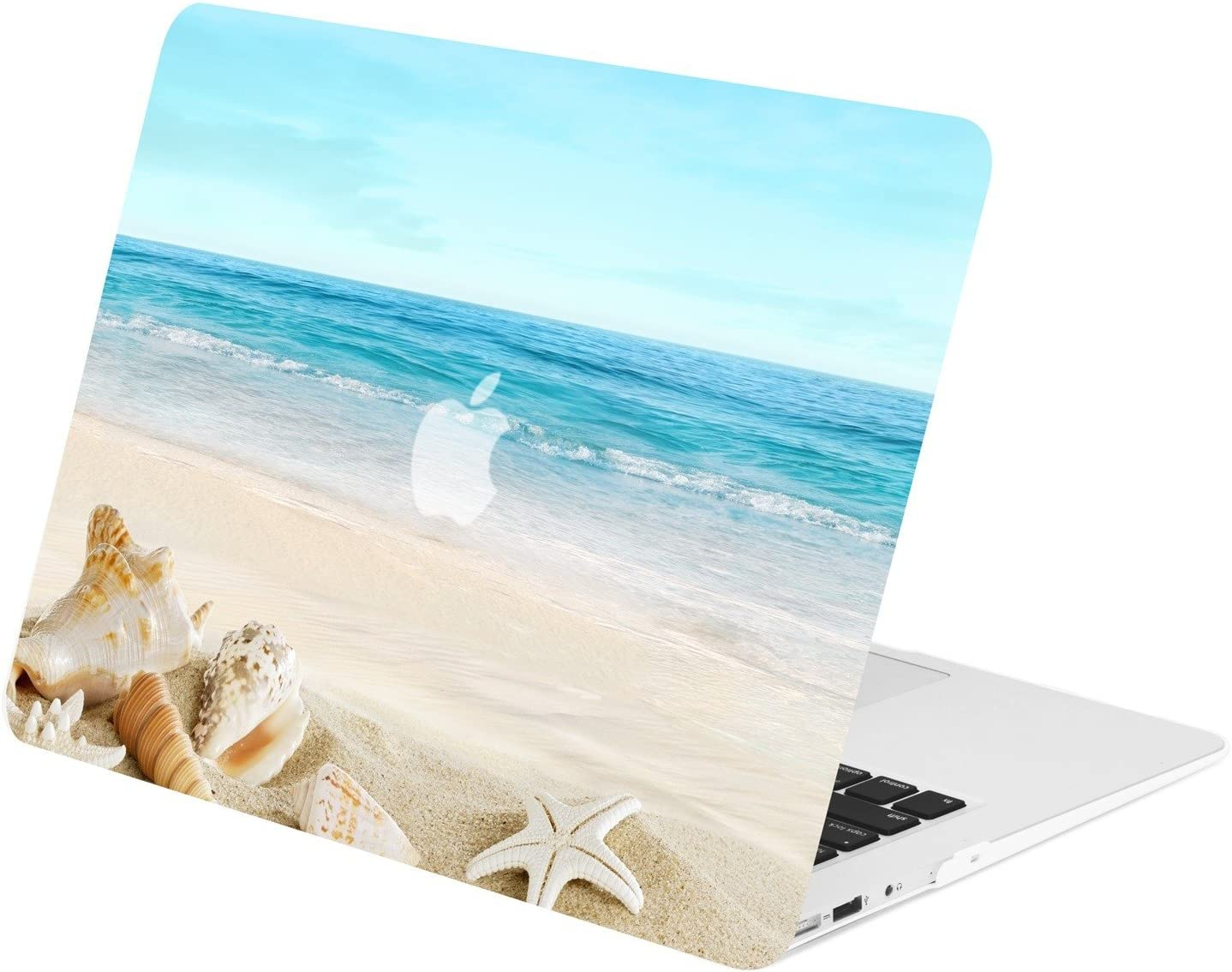 TOP CASE - Retro Series Rubberized Hard Case Compatible Older Generation MacBook Air 13