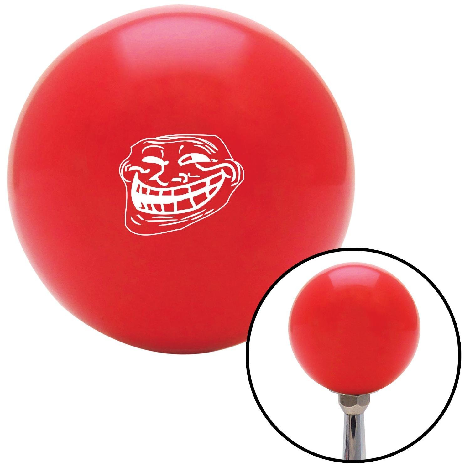 White Original Troll Red with M16 x 1.5 Insert American Shifter 271379 Shift Knob