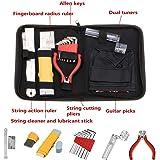 lyws 16 x profesional músicos guitarra herramienta para el cuidado juego completo Kit de reparación mantenimiento